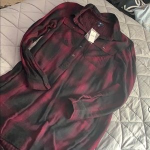 Flannel Long sleeve tunic